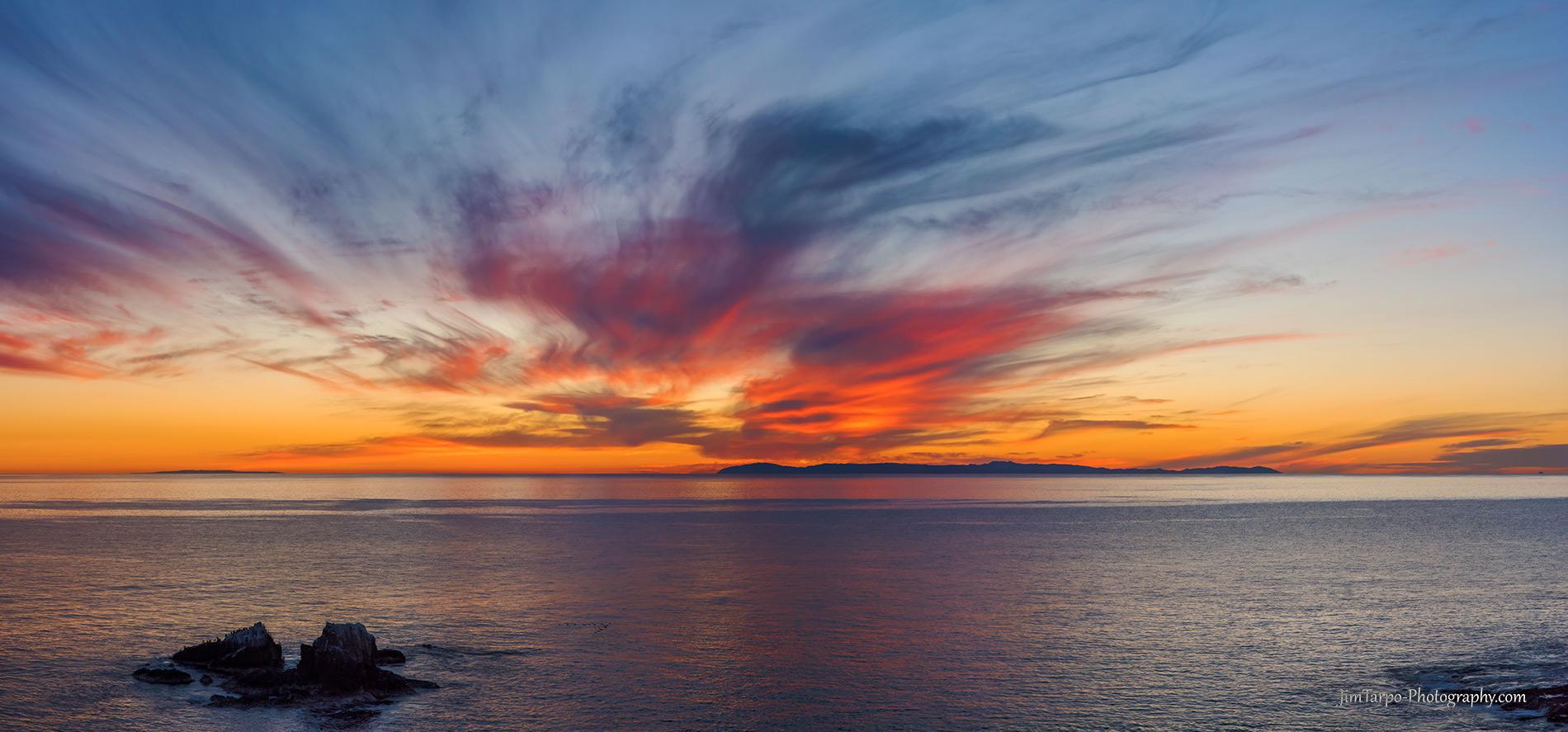 catalina sunset photo laguna beach